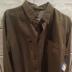 COLUMBIA camo green water-resistant men's shirt